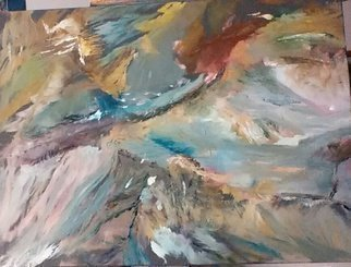 Michael Garr: 'Kamchatka 1', 2015 Oil Painting, Abstract Landscape.       From above. ...