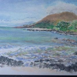 Michael Garr: 'Makena', 2012 Pastel, Beach. Artist Description:  Done on vacation in Maui with an eight- piece set of Walmart pastels. ...