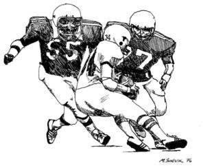 Michael Garr: 'No crying', 1976 Pen Drawing, Sports. yikes these guys are big and fast. Not a long career for the running back in the NFL, neither in 1976 nor now. ...