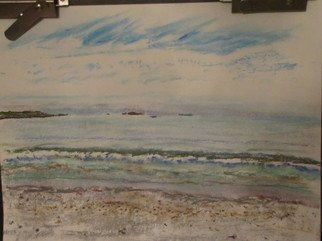 Beach Pastel by Michael Garr Title: Sachuest evening calm, created in 2012