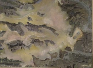Michael Garr: 'Sahara 4', 2013 Oil Painting, Landscape.      Realistic overhead view of a portion of the Sahara Desert ...