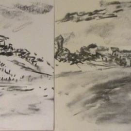 Two Sketches at Galilee  By Michael Garr