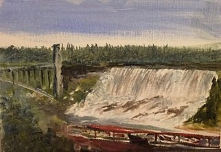 Michael Garr: 'american falls', 2020 Oil Painting, Landscape. Recent visits to Niagara inspired this work...