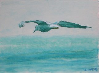 Michael Garr: 'gull over the sea', 2008 Pastel, Marine.  Available as signed prints ...