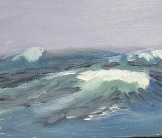 Michael Garr: 'high seas', 2020 Oil Painting, Marine. A Study for a larger work - Color and Texture - Free and Easy brushwork - The wild Ocean...