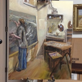 Lorena In Her Studio, Michael Garr