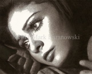 Portrait Charcoal Drawing by Mark Baranowski Title: Casey, created in 2010