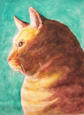 Cats Acrylic Painting by Thom Green Title: Polo, created in 2010