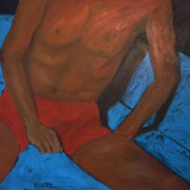 Muriel Van Marion Kasmin: 'B50toy', 2006 Acrylic Painting, Figurative. Artist Description: Getting older for a man means getting younger in fantasy, especially when one is over the hill...