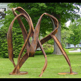 Michelle Vara: 'Life  ', 2011 Steel Sculpture, Abstract. Artist Description: Recycled metal I beams welded, in rust finish. Artist Ref03. ...