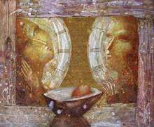 - artwork Man_and_Woman-1180564790.jpg - 2006, Painting Oil, Love
