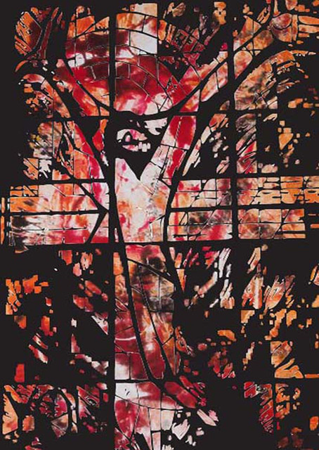 Michael Weatherly  'Crucifixtion', created in 2012, Original Printmaking Monoprint.