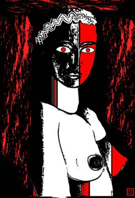 Moshe Abeles Artwork Black and Red, 2010 Other Printmaking, Abstract Figurative