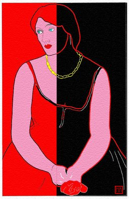 Moshe Abeles Artwork Homage to Vanessa Bell, 2010 Other Printmaking, Abstract Figurative
