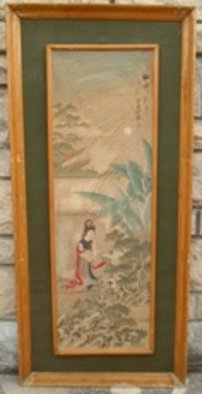 Ghulam Nabi Artwork Antique Chinese Painting, 1924 Other Painting, Beauty