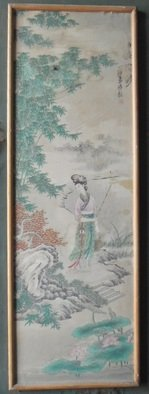 Ghulam Nabi Artwork Antique Chinese art work , 1924 Other Painting, Beauty