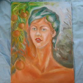 Nadejda Rawlings: 'The girl from farm', 2013 Oil Painting, Portrait. Artist Description:  The original oil painting on canvas ...