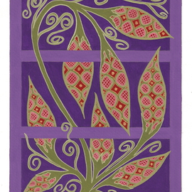 Teresa Sherwin Artwork Vine, 2012 Gouache Drawing, Botanical