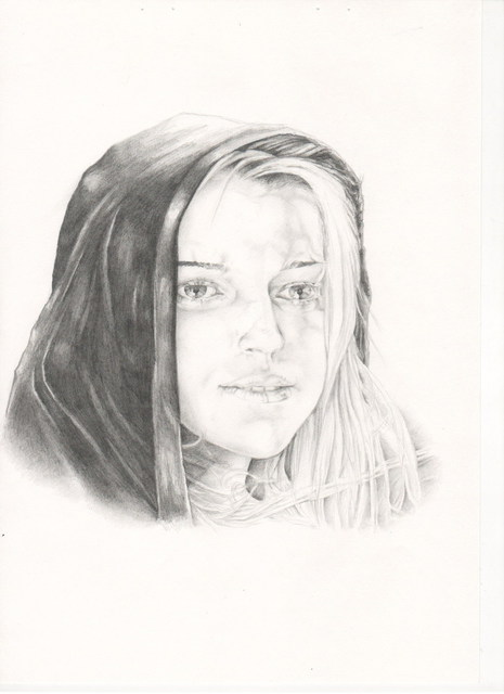 Nahrain Michael  'Veronica', created in 2009, Original Drawing Pencil.