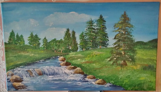 Irene Nilemo  'River In The Carpathians', created in 2015, Original Painting Acrylic.