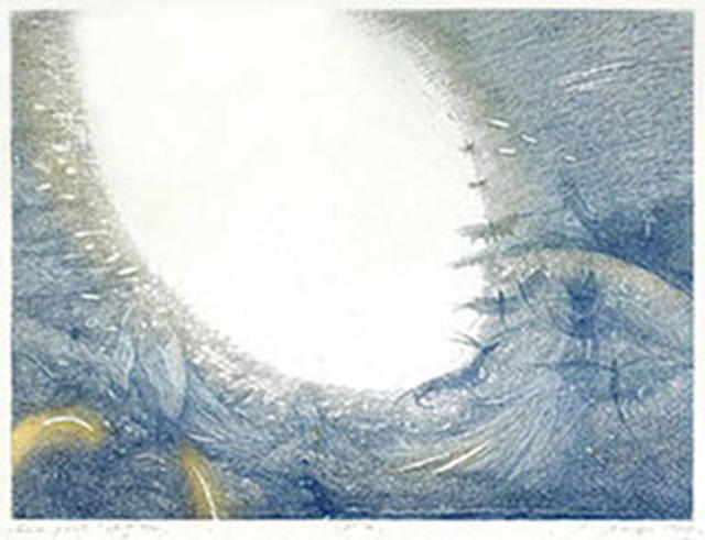 Naima Neidre  'On The Border Of The Blue', created in 1995, Original Printmaking Etching.