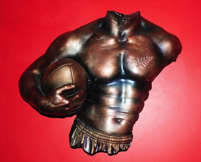 Brent And Shirley Cairns  'Player, Male Sculpture With Ball', created in 2011, Original Sculpture Other.