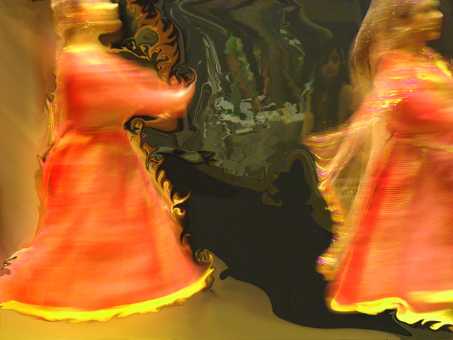 Nancy Bechtol  '13 Women Dance', created in 2009, Original Photography Mixed Media.