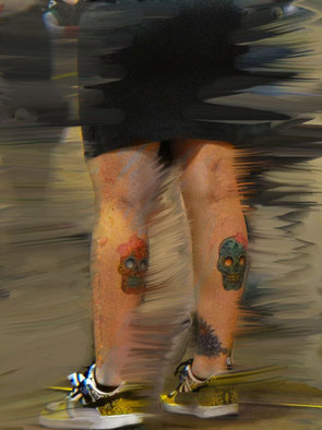 Artist: Nancy Bechtol - Title: Art Legs and Skulls - Medium: Color Photograph - Year: 2010