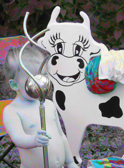 Nancy Bechtol  'Baby Cow', created in 2003, Original Photography Mixed Media.