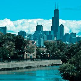 Blue Skyline Chicago River