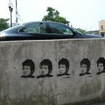 Bob Dylan on Cement By Nancy Bechtol