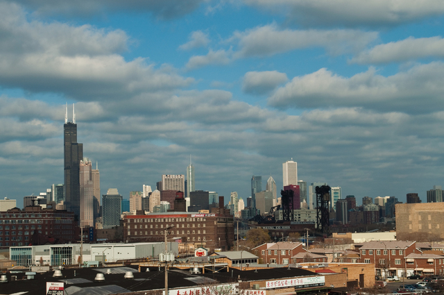 Nancy Bechtol  'Chicago Industry Skyline', created in 2009, Original Photography Mixed Media.