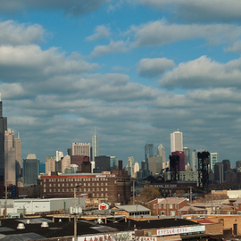 Nancy Bechtol: 'Chicago Industry Skyline', 2009 Color Photograph, Landscape. Artist Description:        transformed vision Chicago skyline     ...