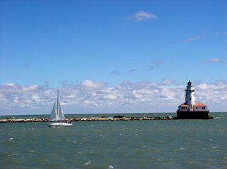 Nancy Bechtol: 'Chicago Lighthouse Navy Pier', 2005 Other Photography, Boating.  Chicago lakefront tranquility ...