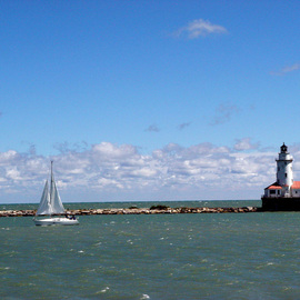 Chicago Lighthouse Navy Pier  By Nancy Bechtol