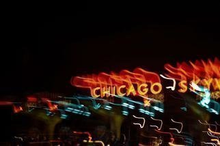 Nancy Bechtol: 'Chicago SKY way', 2013 Color Photograph, Figurative. Artist Description: lightride series, lights, chicago, Sky way, expressway, travel, psycho, lightsstatue purple...