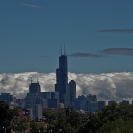 Nancy Bechtol: 'Cloudy Day Skyline Chicago', 2009 Color Photograph, Landscape. Artist Description:     transformed vision Chicago skyline  ...