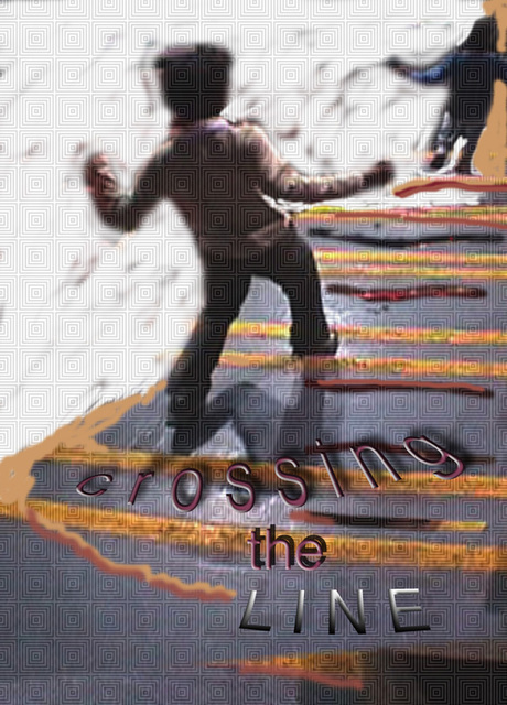 Artist Nancy Bechtol. 'Crossing The Line' Artwork Image, Created in 2008, Original Photography Mixed Media. #art #artist