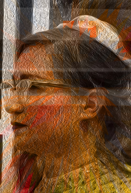 Nancy Bechtol  'Digital Mindset Orange Hip', created in 2013, Original Photography Mixed Media.