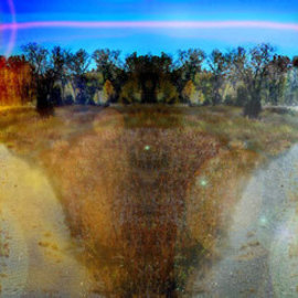 Nancy Bechtol: 'Dual MOONS', 2008 Other Photography, Abstract Landscape. Artist Description:  unreal landscape series ...