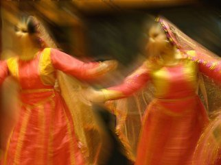 Color Photograph by Nancy Bechtol titled: Duo Light Hindi Dance, created in 2009