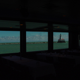 Nancy Bechtol: 'Framed view of the lake', 2006 Other Photography, Peace. Artist Description:  A peaceful view from the cabin Chicago Cruise. ...