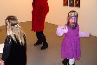 Nancy Bechtol: 'Kids in Msks, art dance', 2010 Color Photograph, Abstract Figurative. Artist Description:  lee groban, Lee Groban, Masks, people, woman, , intense, coloring, duality, motion, figures ...