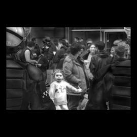 Nancy Bechtol: 'Little Girl in AntiWar March', 2004 Other Photography, Activism. Artist Description:  Chicago, Downtown Anti- War March. ...