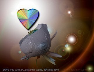 Nancy Bechtol: 'Love you in a 3D kinda way', 2010 Digital Art, Love.                 digital painting of love in a 3D sence           ...