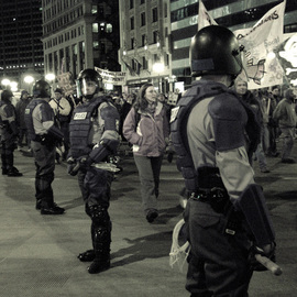 Nancy Bechtol: 'March on ', 2005 Other Photography, Activism. Artist Description:  AntiWar March. Chicago. Marching down michigan Ave. ...