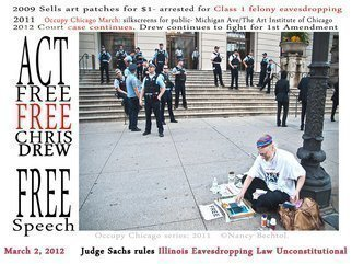Nancy Bechtol: 'Occupy Chicago Series: Free Chris Drew', 2012 Other Photography, Activism. Artist Description:  Occupy Chicago, photo/ text series, Nancy Bechtol,...