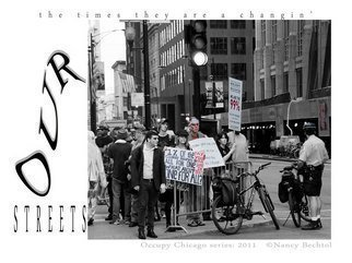 Nancy Bechtol: 'Occupy Chicago   OUR STREETS', 2012 Other Photography, Activism. Artist Description:       Occupy Chicago, photo/ text series, Nancy Bechtol,           ...