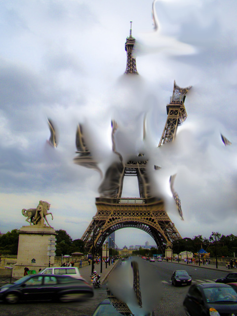Nancy Bechtol  'ParisCloudExpanse', created in 2009, Original Photography Mixed Media.