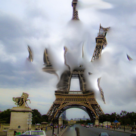 Nancy Bechtol: 'ParisCloudExpanse', 2009 Other Photography, Surrealism. Artist Description:  Paris view of expansive cloud and multiviews.various sizes ...